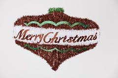 Merry Christmas Ornament on White Stock Photos