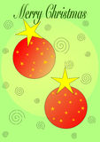 Merry Christmas Ornaments Stock Image