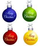 Merry Christmas Ornaments Royalty Free Stock Images