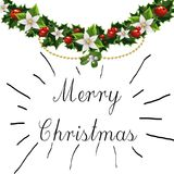Merry Christmas ornaments and Sign Royalty Free Stock Photo