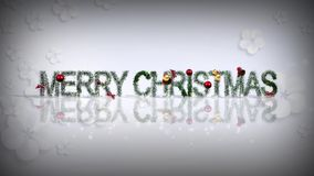 Merry Christmas Ornaments White stock video footage