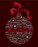 Merry christmas and other holiday words vector illustration