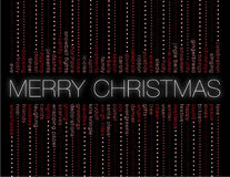 Merry christmas and other holiday words Stock Image