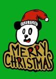 Merry Christmas Panda Stock Image