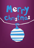Merry Christmas paper cut greeting card, postcard. Royalty Free Stock Photography