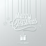 Merry christmas paper cut vector background Royalty Free Stock Photography