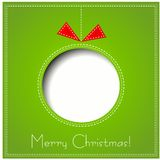 Merry Christmas Paper greeting card Stock Images