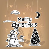 Merry Christmas Paper royalty free illustration