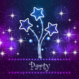Merry Christmas Party Card Royalty Free Stock Photo