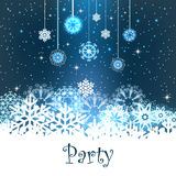 Merry Christmas Party Card Royalty Free Stock Image