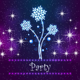 Merry Christmas Party Card Royalty Free Stock Images