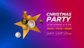 Merry Christmas Party Design template royalty free illustration
