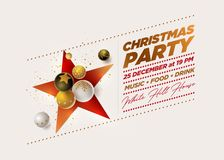 Merry Christmas Party Design template vector illustration