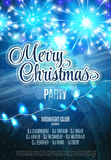 Merry Christmas Party Flyer. Abstract Winter Poster Background. Vector Illustration. Royalty Free Stock Photo