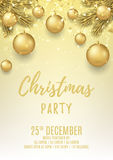 Merry Christmas party flyer Stock Photo