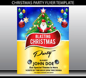 Merry christmas party flyer template Stock Image