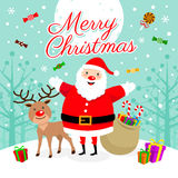 Merry Christmas!. Christmas Party Illustration. EPS 10 file and large jpg included Royalty Free Stock Photo