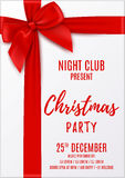 Merry Christmas party invitation Stock Image