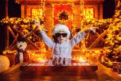 Merry christmas party royalty free stock photos