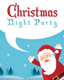Merry Christmas Party Style Poster Royalty Free Stock Images