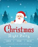 Merry Christmas Party Style Poster Royalty Free Stock Photos