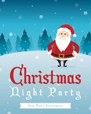 Merry Christmas Party Style Poster Stock Photography