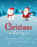 Merry Christmas Party Style Poster Stock Images