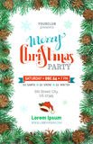 Merry Christmas Party template. Stock Photography