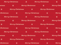 Merry Christmas pattern. Red seamless Merry Christmas pattern Royalty Free Stock Image