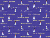 Merry Christmas pattern. Seamless Merry Christmas pattern with snowman Royalty Free Stock Image