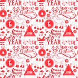 Merry Christmas pattern. Hipster New Year and Merry Christmas seamless pattern Royalty Free Stock Photos