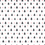 Merry Christmas pattern. Hipster seamless vector pattern with Christmas tree Stock Photography
