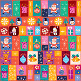 Merry Christmas pattern Stock Images
