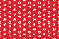 Merry Christmas pattern seamless. Christmas balls background. Red xmas wallpaper. Endless texture for gift wrap, wallpaper, web banner background, wrapping stock illustration