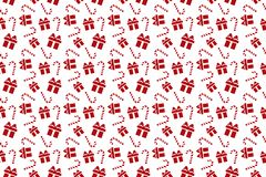 Merry Christmas pattern seamless. Gift background. Endless textu. Re for gift wrap, wallpaper, web banner background, wrapping paper and Fabric patterns royalty free illustration