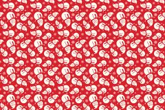 Merry Christmas pattern seamless. Santa Claus background. Red xmas wallpaper. Endless texture for gift wrap, wallpaper, web banner background, wrapping paper stock illustration