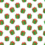 Merry Christmas pattern. Merry Christmas seamless vector pattern with gifts Royalty Free Stock Photography