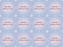 Merry Christmas pattern with snowflakes Royalty Free Stock Images