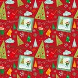 Merry christmas pattern Stock Photos