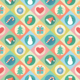 Merry Christmas pattern. Vector illustration of flat design Royalty Free Stock Photo