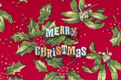 Merry Christmas peace love joy typography royalty free stock images