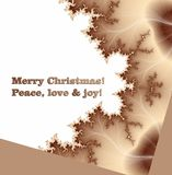 Merry Christmas, peace, love and joy Royalty Free Stock Photo
