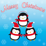 Merry Christmas Penguins Stock Image