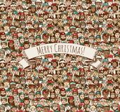 Merry Christmas People Royalty Free Stock Photos
