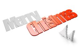 Merry christmas perspective view Stock Photography