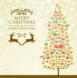 Merry Christmas pine tee hands Stock Photos