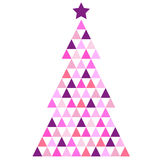 Merry Christmas pink Mosaic Tree Royalty Free Stock Photography