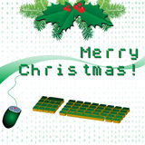 Merry Christmas in pixels Royalty Free Stock Photo
