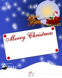 Merry Christmas placard Stock Photo