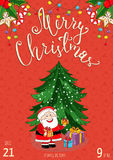 Merry Christmas Placard for Holiday Party Ad Royalty Free Stock Photo